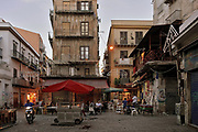 Palermo, Piazza Caracciolo in the historic market of Vucciria.<br /> Palermo: piazza Caracciolo alla Vucciria