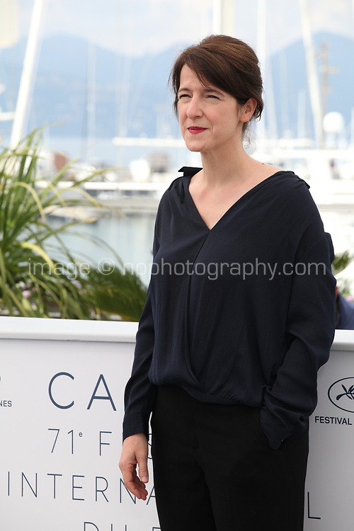 Ursula Meier, President of the Camera D'or jury at the Camera D'or jury photo call at the 71st Cannes Film Festival, Thursday 10th May 2018, Cannes, France. Photo credit: Doreen Kennedy