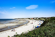 Vacationers at Corporation Beach, Dennis, Cape Cod, Massachusetts, USA