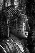 Gal Vihara at Polonnaruwa. Gal Vihara means Stone Temple.<br />This is a detail of the seated figure. Polonnaruwa, within the Cultural triangle of Sri Lanka, is a World Heritage Site.