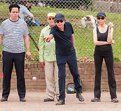 "© Licensed to London News Pictures. 05/06/2015.   London, UK. Monty Python star, Eric Idle, takes part in ""Freddie for the Day"", by playing a special game of celebrity PÈtanque, competing for the Londonaise ëCelebrity PÈtanque Trophyí, ahead of The Londonaise PÈtanque festival this weekend in Barnard Park, Islington.  The festival will set a new precedent in the UK with 128 teams taking part in the main tournament.  The event also aims to raise funds for the Mercury Phoenix Trust to fight against AIDS worldwide. Photo credit : Stephen Chung/LNP"