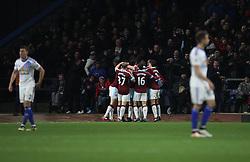 Andre Gray of Burnley (Hidden) celebrates scoring his sides second goal - Mandatory by-line: Jack Phillips/JMP - 31/12/2016 - FOOTBALL - Turf Moor - Burnley, England - Burnley v Sunderland - Premier League