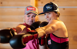 19.06.2017, Powerhof, Adnet, AUT, OeSV, Boxtraining Damen Slalom Team, im Bild Katharina Truppe (AUT), Carmen Thalmann (AUT) // during a Boxing Training Camp of the Austrian Ladies Slalom Team at the Powerhof in Adnet, Austria on 2017/06/19. EXPA Pictures © 2017, PhotoCredit: EXPA/ JFK