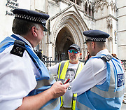 Tommy Robinson AKA Stephen Yaxley Lennon appeal hearing at The High Courts of Justice, London, Great Britain <br />