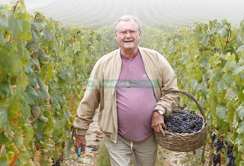 "File photo - ""EXCLUSIVE - Prince Henrik of Denmark is seen in his vineyards around Caix Castle, in Caix, Cahors region, southwestern France, on September 24, 2009. Every year, the Prince comes to Caix to participate in the vintage, from the grape harvest up to the cask filling. He prefers red wine because the grapes are hand picked. Today, the prince was amaized by the foggy atmosphere around the vineyards. The 25 hectares family estate produces about 150,000 bottles of 'Cahors' red and white wine, but the vineyard also started to produce Rose wine. Red wine represents 70% of the castle's wine production. Best selling around the world are the 2002-2005 vintages called """"La CuvÀe du Prince du Danemark, Chateau de Caix, CAHORS"""". The prince's wine is exported for 50% in Denmark, 20% in France and 30 % in the rest of the world. Wine is a family tradition: Henrik's brother and sister also own some land next to his lands, and Queen Margrethe backs her husband's passion. In October 2009, Prince Henrik will open the first of ten wine stores called 'La Cave du Roi des Vins de France' in China. The first one in Shanghai, the second one in Beijing. Prince Henrik, the French-born husband of Denmark's Queen Margrethe II, has died, the palace announced Wednesday. He was 83. Photo by Patrick Bernard/ABACAPRESS.COM"""
