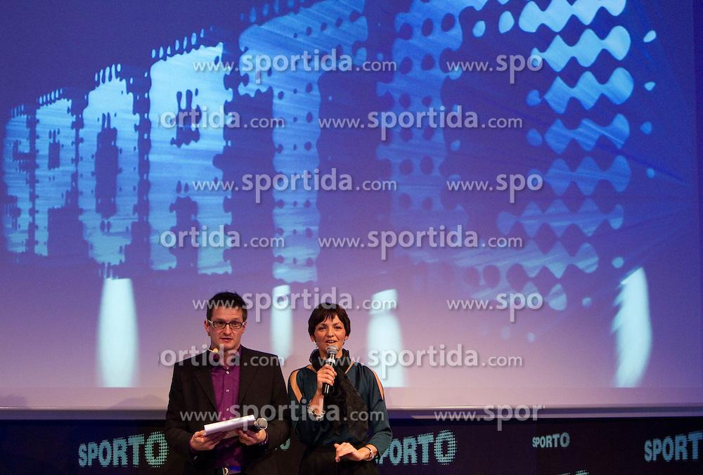 Sasa Jerkovic and Maja Makovec Brencic during Sporto  2010 Gala Dinner and Awards ceremony at Sports marketing and sponsorship conference, on November 29, 2010 in Hotel Slovenija, Portoroz/Portorose, Slovenia. (Photo By Vid Ponikvar / Sportida.com)