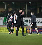 10th April 2018, Tannadice Park, Dundee, Scotland; Scottish Championship football, Dundee United versus St Mirren; St Mirren manager Jack Ross at the end