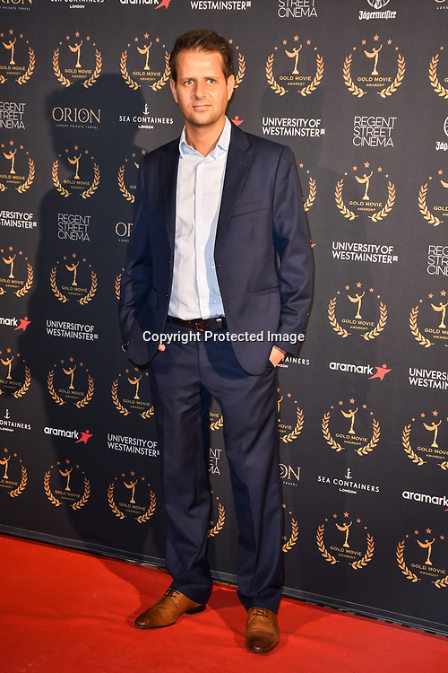 Alex Fidelski ceo reel scene acting school arrivers at Gold Movie Awards at Regents Street Theatre, on 9th January 2020, London, UK.