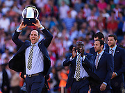MADRID, SPAIN- MAY 12: during the Liga BBVA between Atletico de Madrid and FC Barcelona at the Vicente Calderon stadium on May 12, 2013 in Madrid, Spain. (Photo by Aitor Alcalde Colomer).