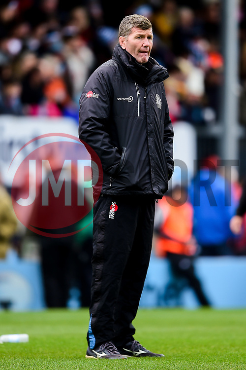 Rob Baxter prior to kick off - Mandatory by-line: Ryan Hiscott/JMP - 14/04/2019 - RUGBY - Sandy Park - Exeter, England - Exeter Chiefs v Wasps - Gallagher Premiership Rugby