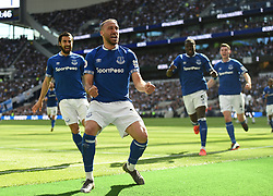 Everton's Cenk Tosun celebrates scoring their second goal