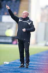 Falkirk's manager Peter Houston. <br /> Falkirk 2 v 1 Brechin City, Scottish Cup fifth round game played today at The Falkirk Stadium.