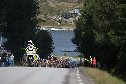 Janneke Ensing (NED) of Ale-Cipollini Cycling Team and Rossella Ratto (ITA) of Cylance Pro Cycling race for the mountain points on Stage 3 of the Ladies Tour of Norway - a 156.6 km road race, between Svinesund (SE) and Halden on August 20, 2017, in Ostfold, Norway. (Photo by Balint Hamvas/Velofocus.com)