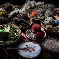 Natural ingredients use to dye wool
