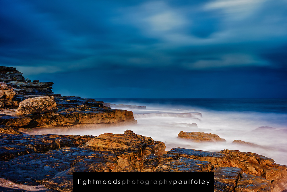 Storm surf at Sunset Maroubra, NSW, Australia.