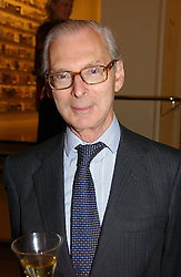 The HON.SIR TIM SAINSBURY at a party to launch the new Sculpture Galleries at the V&A, London sponsored by Michael & Dorothy Hintze on 24th May 2006.<br />
