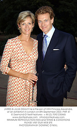 JAMES & JULIA OGILVY he is the son of HRH Princess Alexandra, at an exhibition in London on 8th September 2003.PMF 41