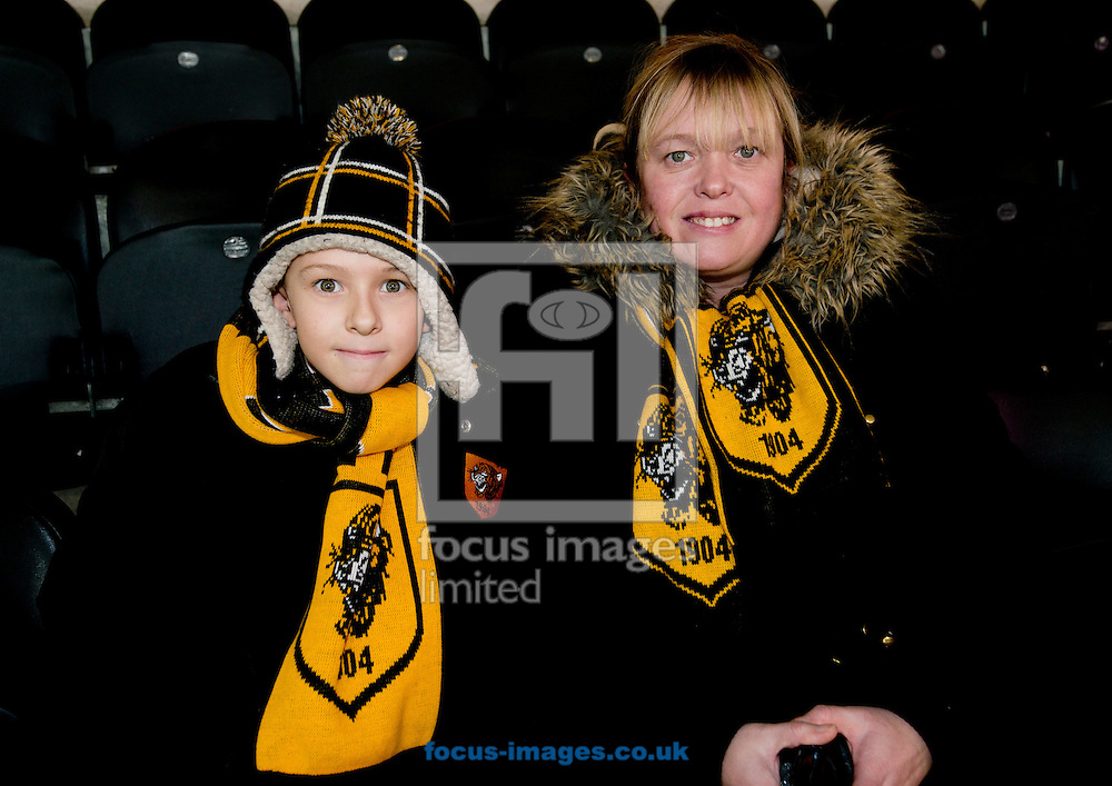 Hull City fans before the Premier League match at the KCOM Stadium, Hull<br /> Picture by Russell Hart/Focus Images Ltd 07791 688 420<br /> 30/12/2016