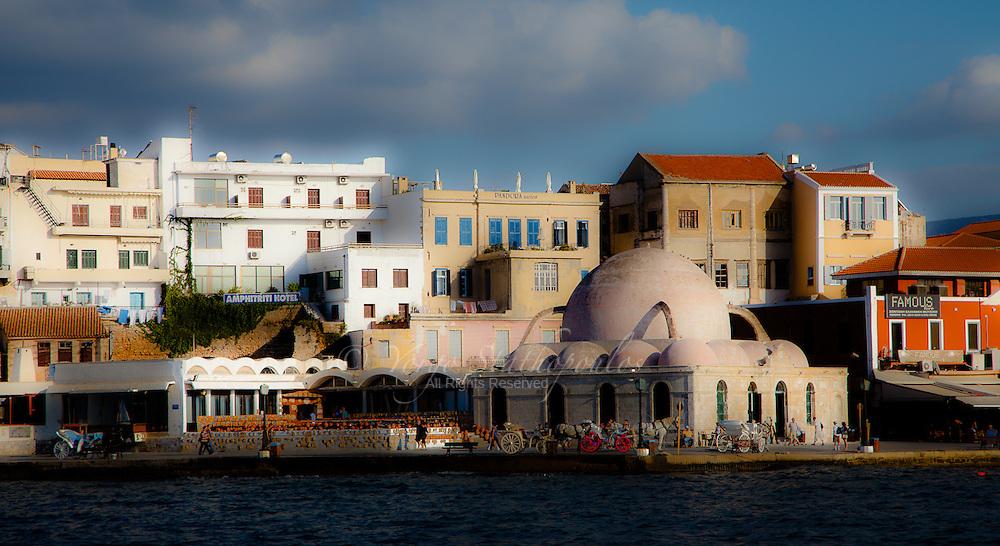 Venetian port of Chania, Crete.
