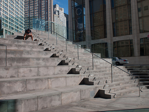 Stairs To Nowhere At Broadway Plaza In Lincoln Center, New York City.