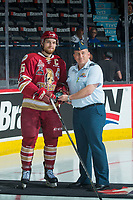 REGINA, SK - MAY 19: Jeffrey Truchon-Viel #25 of Acadie-Bathurst Titan receives the third star of the game against the Swift Current Broncos at the Brandt Centre on May 19, 2018 in Regina, Canada. (Photo by Marissa Baecker/CHL Images)
