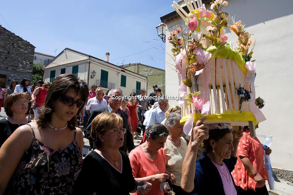 San Paolo Albanese (PZ) 16/08/2007 - Processione di San Rocco.