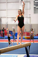 Bayley Barnett trains for Level 10 gymnastics at World Champions Centre with coaches Laurent and Cecile Landi.(Photos by Alan Lessig)