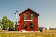 Big Horn County Historical Museum, Hardin, Montana, historic Lodge Grass Depot.
