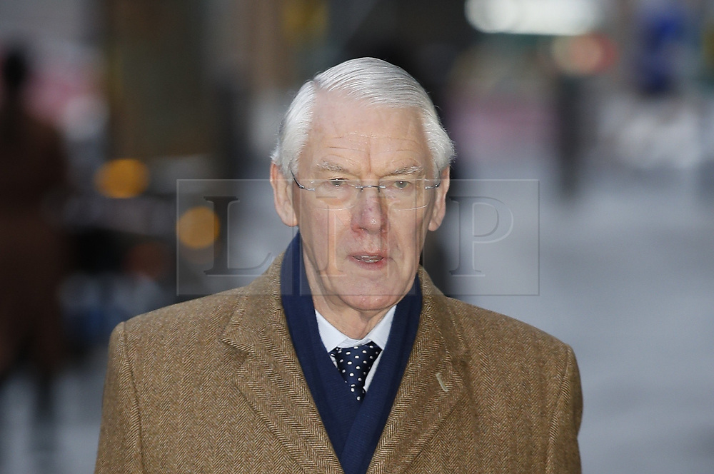 © Licensed to London News Pictures. 27/01/2020. London, UK. Sir Martin Moore-Bick, Chairman of the Grenfell Inquiry, arrives to start phase two. The second part of the inquiry into the fire that claimed the lives of 72 residents will consider important wider issues around the refurbishment and management of the Tower. Photo credit: Peter Macdiarmid/LNP