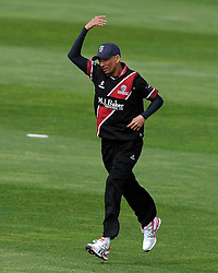 Somerset's Alfonso Thomas - Photo mandatory by-line: Harry Trump/JMP - Mobile: 07966 386802 - 30/03/15 - SPORT - CRICKET - Pre Season Fixture - T20 - Somerset v Gloucestershire - The County Ground, Somerset, England.