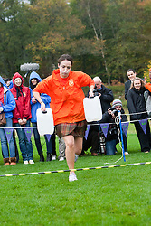 Miss Scotland Jennifer Reochs takes part in a race..The Miss World 2011 contestants take part in Highland Games in the grounds of Crieff Hydro, Perthshire..MISS WORLD 2011 VISITS SCOTLAND..Pic © Michael Schofield.