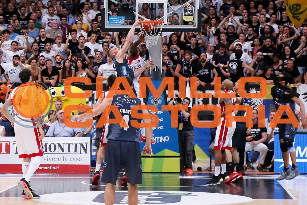 Luca Lechthaler<br /> Dolomiti Energia Aquila Basket Trento - EA7 Emporio Armani Olimpia Milano<br /> Semifinale Gara 4, Lega Basket Serie A 2016/2017<br /> PalaTrento 31/05/2017<br /> Foto Ciamillo-Castoria / M.Brondi
