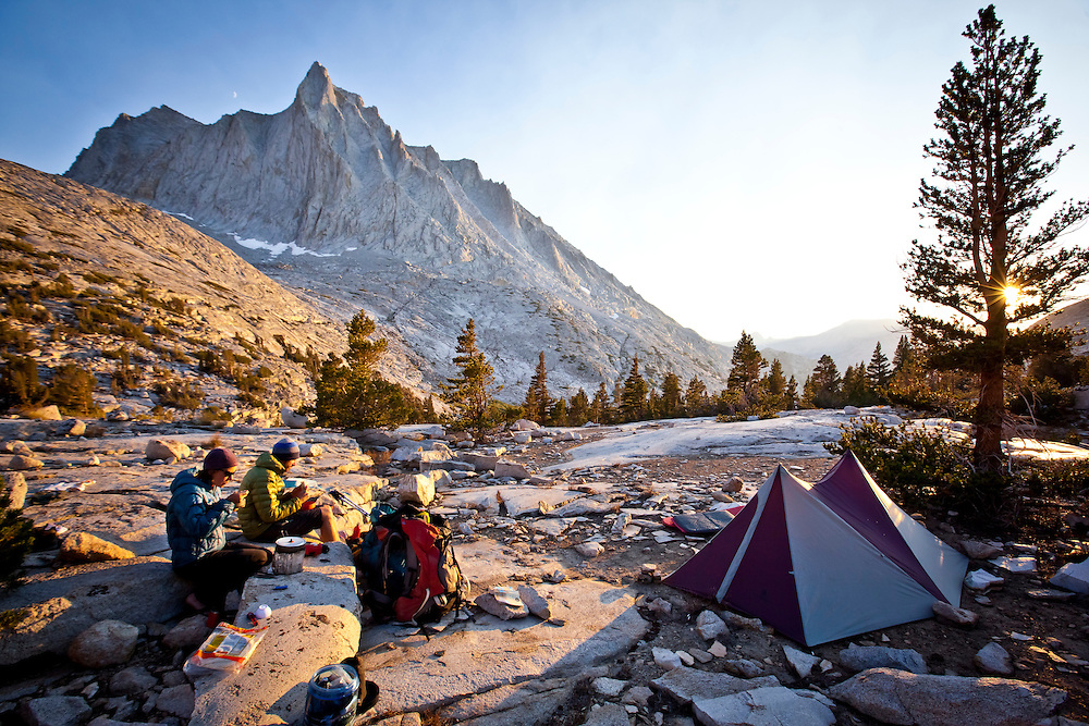 Camp below the NNE face of Seven Gables located in the John Muir Wilderness. The history of climbing on the Seven Gables is some what confusing.  There is some info out there but the acuracy is questionable.  Here is some more info  http://bit.ly/e5JI3n