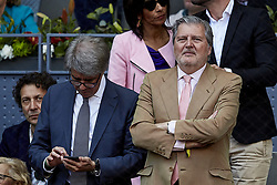 May 13, 2018 - Madrid, Madrid, Spain - Spanish Minister of Education and Sports Inigo Mendez de Vigo attends day nine of the Mutua Madrid Open tennis tournament at the Caja Magica on May 13, 2018 in Madrid, Spain  (Credit Image: © David Aliaga/NurPhoto via ZUMA Press)