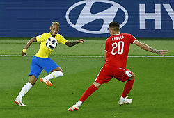 June 27, 2018 - Moscow, Russia - Group E Serbia v Brazil - FIFA World Cup Russia 2018.Neymar (Brazil) and Sergej Milinkovic-Savic (Serbia) at Spartak Stadium in Moscow, Russia on June 27, 2018. (Credit Image: © Matteo Ciambelli/NurPhoto via ZUMA Press)