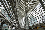 Tokyo International Forum is a multi-purpose exhibition center built in 1996 with striking architecture. It is adjacent to Yurakucho Station near the Yurakucho business district, but is administratively in the Marunouchi district in Tokyo, Japan.