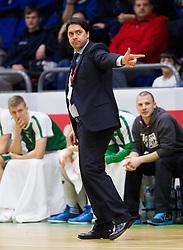 Sasa Filipovski, head coach of Union Olimpija during basketball match between KK Union Olimpija and KK Helios Domzale in Final of Spar Cup  2013 on February 10, 2013 in Arena Golovec, Celje, Slovenia. (Photo By Vid Ponikvar / Sportida)