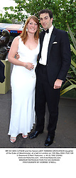 MR ED VAN CUTSEM and his fiancé LADY TAMARA GROSVENOR daughter of the Duke of Westminster, at a ball in London on 13th May 2004.PUD 109