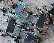 Nederland, St Anthonis, 10-2-2009In een zorgcentrum staan rollators van bewoners bij elkaar.Foto: Flip Franssen