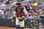 Chris Herrmann #12 of the Minnesota Twins looks on during a game against the Milwaukee Brewers on May 29, 2013 at Target Field in Minneapolis, Minnesota.  The Twins defeated the Brewers 4 to 1.  Photo: Ben Krause