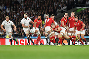 Wales scrum half Gareth Davies during the Rugby World Cup Pool A match between England and Wales at Twickenham, Richmond, United Kingdom on 26 September 2015. Photo by David Charbit.