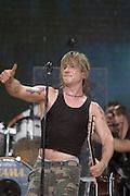 DAYTONA BEACH, FLA. -- John Rzeznik of the Goo Goo Dolls at the Dale Earnhardt Tribute concert at the Daytona International Speedway in Daytona Beach, Fla....©2003 Scott A. Miller