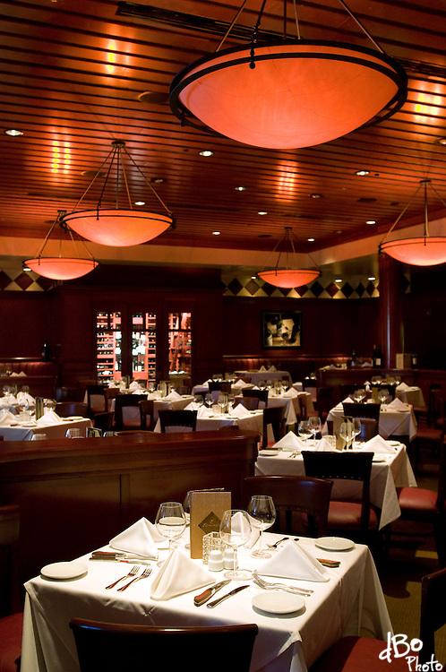 An interior at Flemings Restaurant, Friday, Jan. 23, 2009 in Marlton. (Photo/Douglas M. Bovitt)