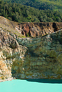 Lake, wall and forest spectrum, Kelimutu Lakes, Flores