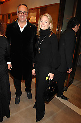 JONATHAN RUTHERFORD-BEST and KADEE ROBBINS at a reception to launch the 2007 Louis Vuitton Christmas windows in collaboration with Central Saint Martins College of Art & Design held at 17-18 New Bond Street, London W1 on 7th November 2007.<br />