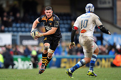Tom Lindsay of Wasps in possession - Photo mandatory by-line: Patrick Khachfe/JMP - Mobile: 07966 386802 14/12/2014 - SPORT - RUGBY UNION - High Wycombe - Adams Park - Wasps v Castres Olympique - European Rugby Champions Cup