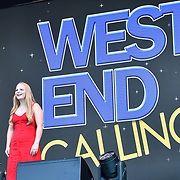 West End Calling performs at West End Live 2019 in Trafalgar Square, on 22 June 2019, London, UK.