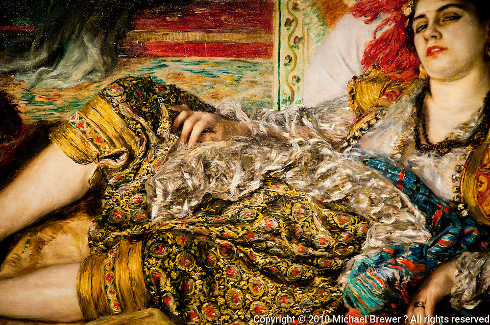 """National Gallery, Washington DC. Painting """"Odalisque"""" by Renoir"""