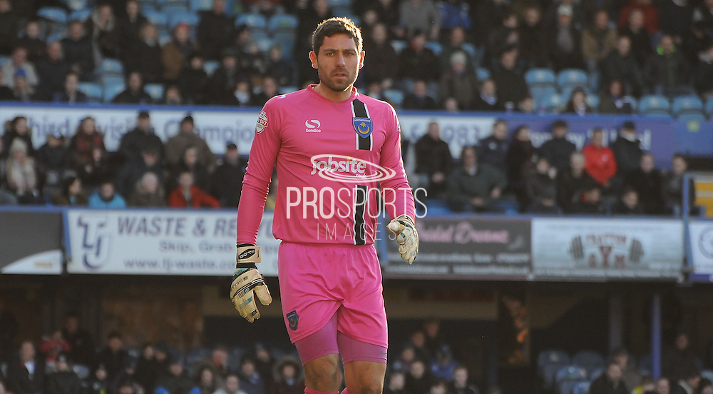 Paul Jones in action during the Sky Bet League 2 match between Portsmouth and Southend United at Fratton Park, Portsmouth, England on 24 January 2015. Photo by Michael Hulf.