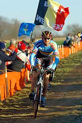 29-01-2006 WIELRENNEN: UCI CYCLO CROSS WERELD KAMPIOENSCHAPPEN ELITE: ZEDDAM <br /> Bart Wellens wordt tweede (BEL)<br /> ©2006-WWW.FOTOHOOGENDOORN.NL
